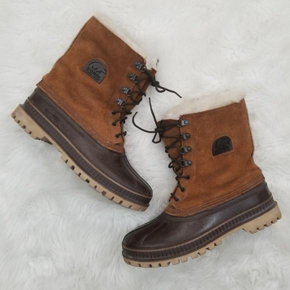 7785848a5d7d0 Sorel Steel Shank Duck Winter Boots Mens Size 9